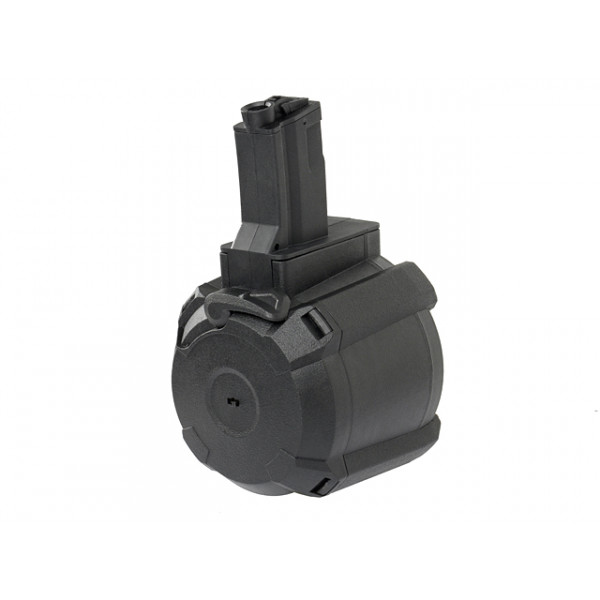[BATTLE AXE] электро-бункер для МП5 с Саунд-контролем 1200RD ELECTRIC DRUM MAGAZINE FOR MP5 (SOUND CONTROL) - BLACK