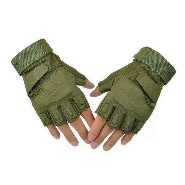 Тактические беспалые перчатки Black Hawk олива