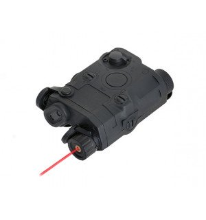 AN-PEQ-15 BATTERY CASE + RED LASER - BLACK [FMA]