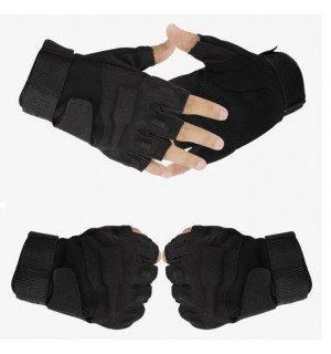 Тактические беспалые перчатки Black Hawk черные