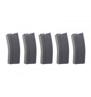 Specna Arms Real-Cap 30 BB M4/M16 Magazine - Grey 5 шт.