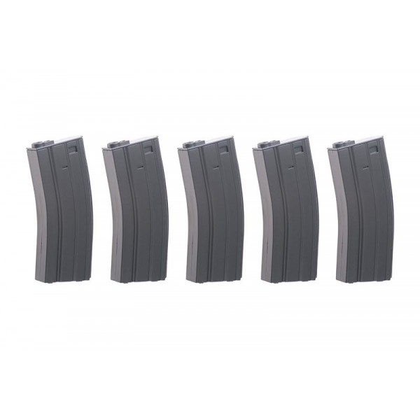 Specna Arms Real-Cap 30 BB M4/M16 Magazine - Grey 5шт.