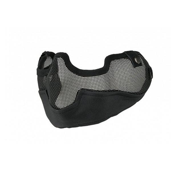 Стальная сеткатая маска с ушами для страйкбола черная