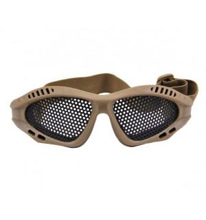 Тактические очки с перфорацией койот