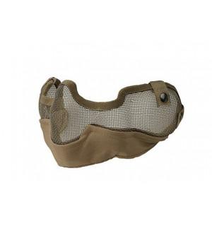 Стальная сеткатая маска с ушами для страйкбола койот