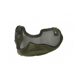 Стальная сеткатая маска с ушами для страйкбола олива