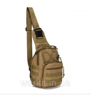 """Тактический рюкзак-сумка однолямочный """"ONE STRAP ASSAULT PACK SM"""" койот"""