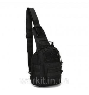 """Тактический рюкзак-сумка однолямочный """"ONE STRAP ASSAULT PACK SM"""" черный"""