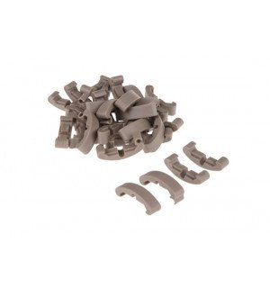 LOW-PROFILE CLIPS FOR RAIL (60 PIECE SET) - DARK EARTH